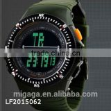 2015 Military Waterproof Diving Date Digital Luminous Rubber Men's Wrist Watch