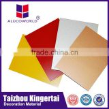 Alucoworld 12 years High strength china acp cork walls panels of acp color card