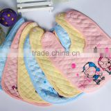 promotional gift cotton infant antifouling baby cloth bib with button