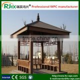 outdoor gazebo pavilion 3x3m with high quality wood plastic composite/european standard cheap pavilion garden gazebo