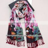 2014 ladies fashion scarves design fashion double-layer high quality ladies fashion scarves
