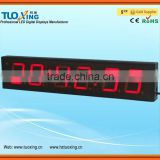 4 inch 6 digits LED digital clock for car