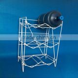 High Quality white metal display 5 gallon 6 bottle water rack for water cooler/dispenser