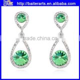 AAA Zircon Alloy Womens Green Crystal Cheap Dangle Earrings With Five Colors                                                                         Quality Choice