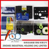 12mm TZe label tape cartridge for compatible brother p-touch label printer black on yellow TZe-631