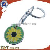 custom design metal shopping cart euro promotional trolley coin keychain                                                                         Quality Choice