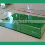 Acrylic serving tray with divider acrylic restaurant tray with compartments                                                                                                         Supplier's Choice