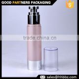 20ml 30ml 50ml Pink round luxury lotion air pump bottle