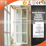 New white solid oak wood casement window grill design for windows and doors                                                                                                         Supplier's Choice