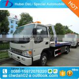 JAC Flat low bed road wrecker tow truck for sale 3ton JAC slide flat bed down towing 3T car rescue truck