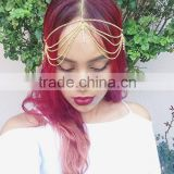 2015 Women Golden Greece Olive Branch Hair Band Head Chain High Stretch Hair Accessories for Wholesale Haoduoyi