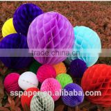Big Tissue Paper Christmas Decoration Paper Honeycomb Ball for latest wedding decoration