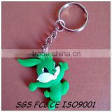 Make your own brand promotion custom rubber 2d cartoon keychain manufacturer in shenzhen factory