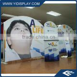 Outdoor advertising pop up banner trade show display/fabric display rack/pop up wall display tradeshow