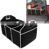 New Car 3 Large sections Trunk Organizer Toys Food Storage Container Bags Box Auto Interior Accessories Black
