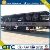 Yuantong TRAILER 2 axles/3 axles flatbed semi trailer, 20ft/40ft/45ft/48ft container platform semi trailers for sale