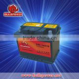 Hot Car battery12v 45ah hybrid car battery for sale,din standard car battery for Euro market