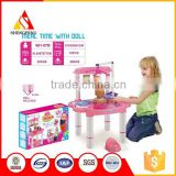 kids kitchen talbe toys with the doll baby play in the house                                                                         Quality Choice