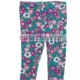 Fashion style wholesale kids palazzo pants flower print pant shirt new style wholesale girls ruffle leggings
