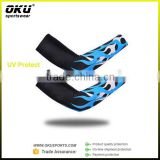Okusports Sublimation cycling arm warmer, lycral custom cycling arm warmer, OEM cycling arm sleeves                                                                         Quality Choice