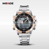 2014 WIEDE display LCD backlight dual time Alarm analog digital clock waterproof sport militaly men quartz luxury watch WH1104