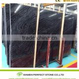 polished antique wooden marble slabs China black wooden grain marble slab