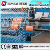 PLC Control chain link fencing machine china factory/Double wire chain link fence machine