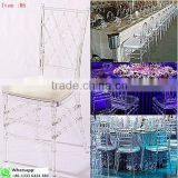 Chinese Factory clear chiavari chair glass chair for event wedding