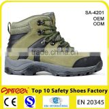 Chinese Factory Rubber Cemented Army Green safety shoes price (SA-4201)