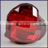 China large size 35x35mm charming red loose CZ stones per carat hot sale, bulk loose Cubic Zirconia gemstones names