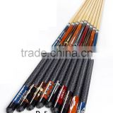 Manufacturer cheap billiard house pool cue 1/2 jointed snooker cue stick with nylon grip