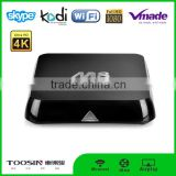 wireless vedeo transmitter tv decoder Ultra HD 4K Free Smart TV Box M8S Internet Android TV Box