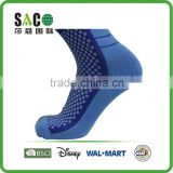 light bule dots and stripe dark blue nylon sport socks