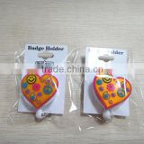 soft Pvc Strap And Metal Button For Id Badge Holder Clips