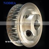 HTD Timing pulley with split hub, large customized aluminum timing pulley