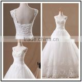 Spaghetti Straps A Line Organza Real Picture Custom Made Long Formal Bridal Design Robe De Mariee HS277 white lace wedding dress