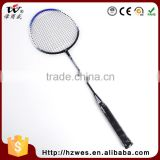 660cm Super Durability PU Iron Alloy Outdoor Sport Ball Badminton Racket With Wash Lables