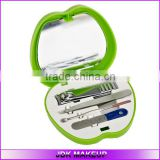 Wholesale Manicure Set with Mirror Apple Shape Box