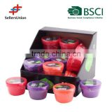 BSCI Member , 2015 New design and LFGB! 2PC Small Plastic Box Set for Snacks, PDQ packing to display colors