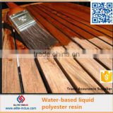 Liquid polyester resin for wall panel