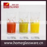 2014 new products round glass cups with flowers machine blown special design whisky glass cups design whisky glass