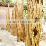 Natural old wood sculpture for landscaping decking