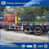 chinese chengli factory best quality 10 wheeler dongfeng container lift garbage trucks for sale