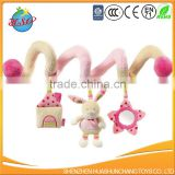 Customize plush baby crib bed stroller spiral toys wholesale