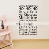 Merry Christmas English Blessing Wall Glass Decor Stickers