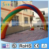 Sunway Rainbow Inflatable Arch, Giant Inflatable Archway/Inflatable Finish Line Arch for Race