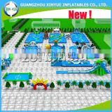 2017 Latest hot sale inflatable amusement park, giant inflatable water park, aqua park for backyard