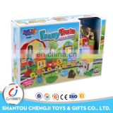 Hot sale learning intellect blocks cartoon magic train toy