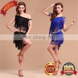 BestDance dance dress latin Tassel Sequin Fringe Flapper Dress ballroom latin evening dress