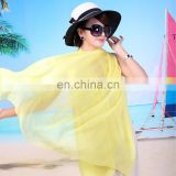 2016 Spring Fashion chiffon beach scarf long lady pashmina scarf